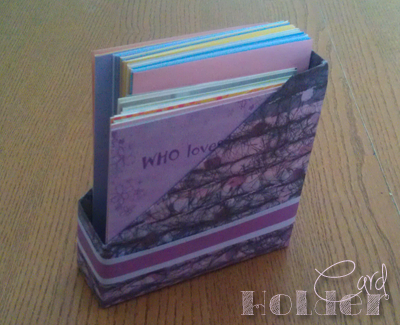 How to Recycle a Cheez-It box into a Card Holder