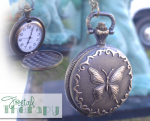 Butterfly Pocket Chain Necklace Watch for $3.77 SHIPPED!