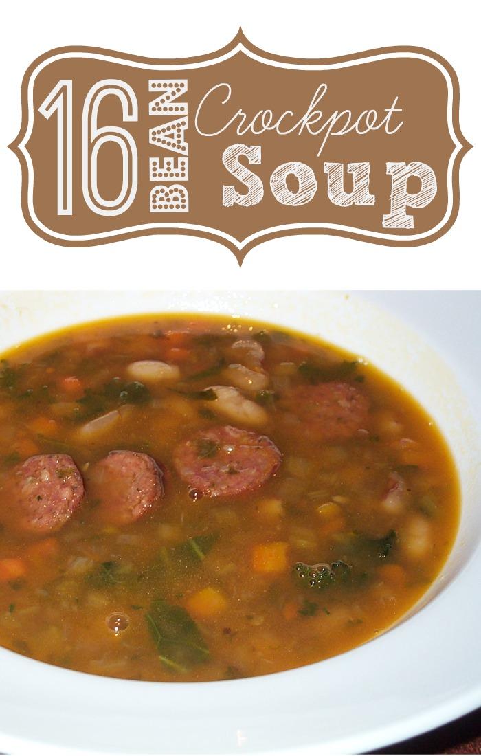 16 Bean Soup – Crockpot Recipe