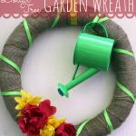 Dollar Tree Garden Wreath