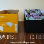 Upcycle boxes into beautiful storage totes